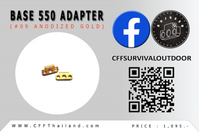 Base 550 Adapter (#09 Anodized)