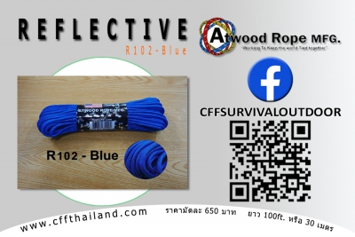 Paracord 550 Reflective (R102-Blue)