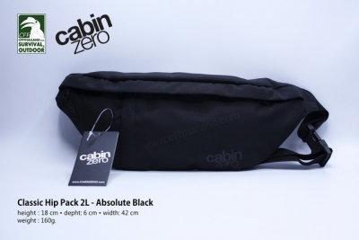 CABIN ZREO HIPPACK 2L-ABSOLUTE BLACK