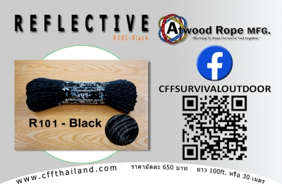 Paracord 550 Reflective (R101-Black)